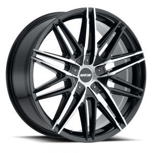 20x8.5 MKW Wheels M124 5x110/5x115 40et 73 Hub Gloss Black Machined