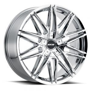 20x8.5 MKW Wheels M124 5x110/5x115 40et 73 Hub Chrome