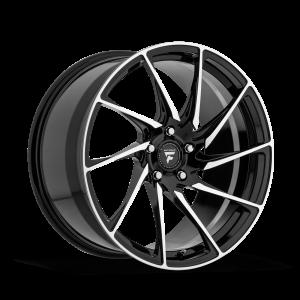20x10.5 Fittipaldi Wheels FSF05MB 5x112 +38 Offset 57.1 Hub Gloss Black
