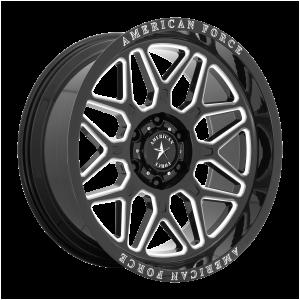 20x10 6x135 American Force Cast Wheels AC001 Rush Gloss Black Milled -18  offset  87.1  hub