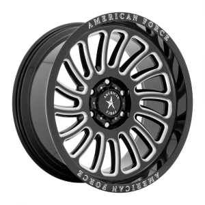 20x10 6x135 American Force Cast Wheels AC004 Vulcan Gloss Black Milled -18  offset  87.1  hub