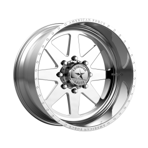 20x10 5x127 American Force Wheels AFW 11 Independence SS Polished -18  offset  71.5  hub
