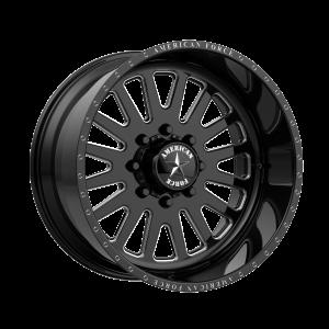 22x12 6x135 American Force Wheels AFW F20 Atom SS Gloss Black Machined -40  offset  87.1  hub