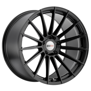 20x9 5x120.65 Cray Wheels Mako Gloss Black 37 offset 70.3 hub