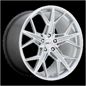 20x9 5x120 Cray Wheels Hammerhead Silver 38 offset 67.06 hub