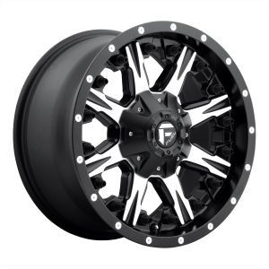 17x9 Fuel Offroad Wheels D541 Nutz 6x135/6x139.7 1 Offset 106.1 Centerbore Matte Black