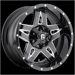 17x9 Fuel Offroad Wheels D554 Full Blown 5x114.3/5x127 -12 Offset 78.1 Centerbore Matte Black