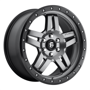 15x10 Fuel Offroad Wheels D558 Anza 5x114.3 -43 Offset 72.56 Centerbore Matte Black