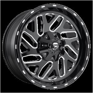 17x9 Fuel Offroad Wheels D581 Triton 5x114.3/5x127 -12 Offset 78.1 Centerbore Gloss Black