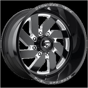 18x9 Fuel Offroad Wheels D582 Turbo 8x170 1 Offset 125.1 Centerbore Gloss Black
