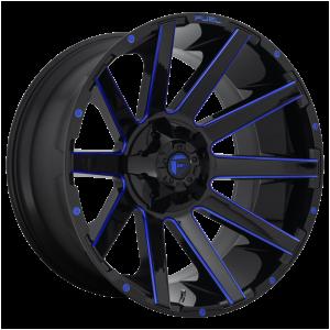 18x9 Fuel Offroad Wheels D644 Contra 6x135/6x139.7 -12 Offset 106.1 Centerbore Gloss Black