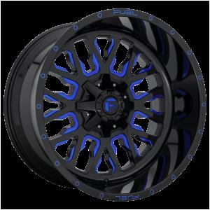 17x9 Fuel Offroad Wheels D645 Stroke 5x114.3/5x127 -12 Offset 78.1 Centerbore Gloss Black