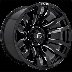 16x8 Fuel Offroad Wheels D673 Blitz 5x139.7 1 Offset 108 Centerbore Gloss Black