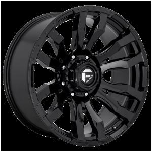 16x8 Fuel Offroad Wheels D675 Blitz 5x139.7 1 Offset 108 Centerbore Gloss Black