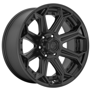 18x9 Fuel Offroad Wheels D706 Siege 5x127 -12 Offset 71.5 Centerbore Matte Black