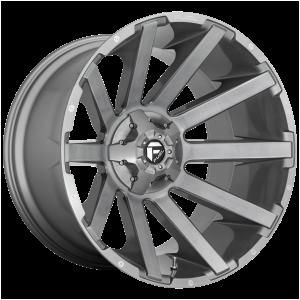20x10 Fuel Offroad Wheels D714 Contra Platinum 5x114.3/5x127 -18 Offset 78.1 Centerbore Gunmetal