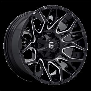 20x10 Fuel Offroad Wheels D769 Twitch 5x114.3/5x127 -18 Offset 78 Centerbore Gloss Black