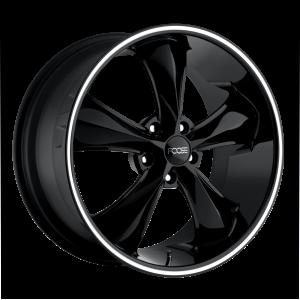 17x7 5x114.3 Foose Wheels F104 Legend Gloss Black Milled 1 offset 72.56 hub