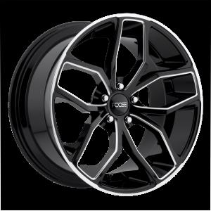 20x10 5x114.3 Foose Wheels F150 Outcast Gloss Black Milled 40 offset 72.56 hub