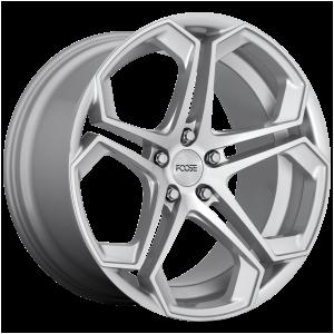 20x10.5 5x114.3 Foose Wheels F170 Impala Gloss Silver Machined 40 offset 72.56 hub