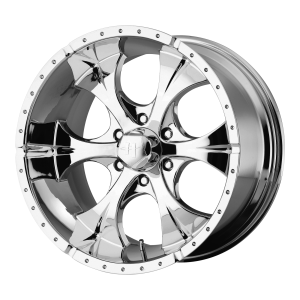 16x10 6x139.7 Helo Wheels HE791 Maxx Chrome -25  offset  108  hub