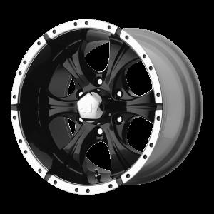 15x8 5x127 Helo Wheels HE791 Maxx Gloss Black Machined -12  offset  78.3  hub