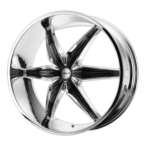 20x8.5  Helo Wheels HE866 Chrome Plated With Gloss Black Accents 10  offset  108  hub