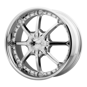 20x8.5  Helo Wheels HE871 Chrome 35  offset  72.6  hub