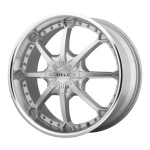 20x8.5  Helo Wheels HE871 Silver With Mach Lip 15  offset  72.6  hub