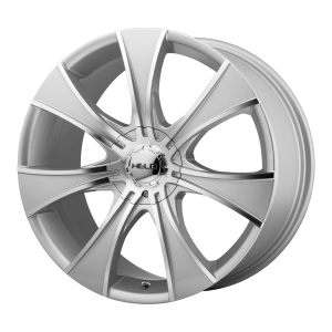 15x7  Helo Wheels HE874 Dark Silver With Mach Face 21  offset  72.6  hub