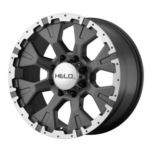 17x9  Helo Wheels HE878 Dark Silver With Machined Flange -12  offset  87.1  hub