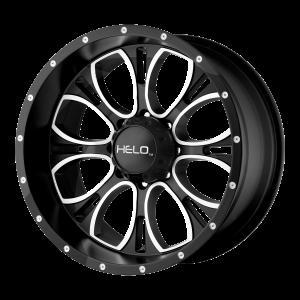 16x8  Helo Wheels HE879 Gloss Black Machined 0  offset  106.25  hub