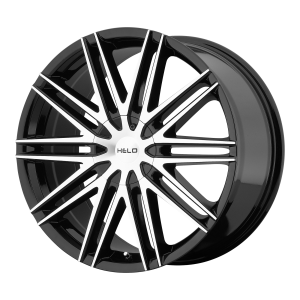 16x7  Helo Wheels HE880 Gloss Black Machined Face 21  offset  72.6  hub