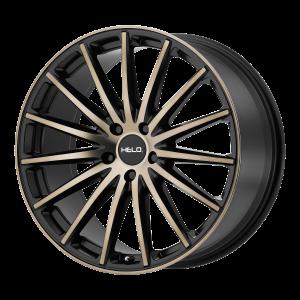 17x7.5  Helo Wheels HE894 Satin Black Dark Tint 40  offset  72.6  hub