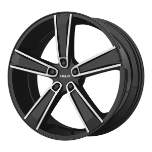 17x7  Helo Wheels HE899 Satin Black Machined With Gloss Black And Chrome Inserts 38  offset  72.6  hub