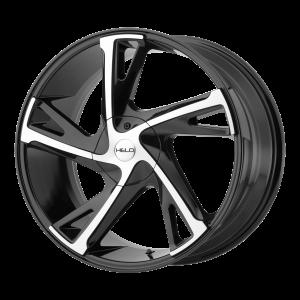 16x7  Helo Wheels HE902 Gloss Black Machined 42  offset  74.1  hub