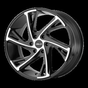 22x9  Helo Wheels HE903 Gloss Black Machined 30  offset  100.5  hub
