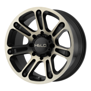 17x9  Helo Wheels HE904 Satin Black Machined Dark Tint 0  offset  106.25  hub