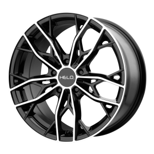 16x7  Helo Wheels HE907 Gloss Black Machined 38  offset  72.6  hub