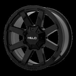 17x9  Helo Wheels HE909 Gloss Black 18  offset  124.2  hub