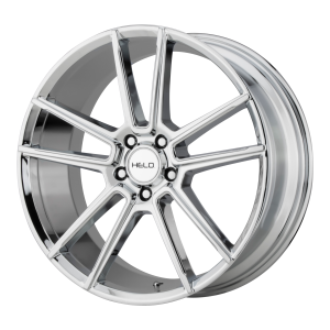 16x7  Helo Wheels HE911 Chrome 38  offset  56.6  hub