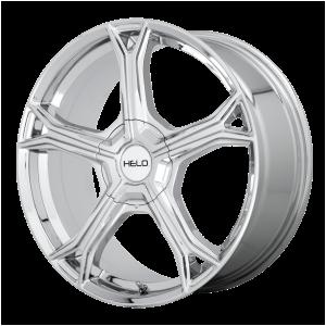17x7.5  Helo Wheels HE915 Chrome 38  offset  72.6  hub