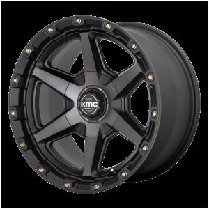 17x9  KMC Wheels KM101 Tempo Satin Black With Gray Tint -12  offset  106.1  hub