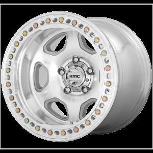 17x9  KMC Wheels KM233 Hex Machined -38  offset  108  hub