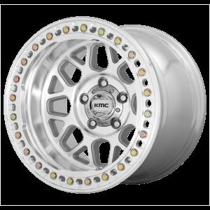 17x8.5  KMC Wheels KM235 Grenade Crawl Machined 0  offset  108  hub