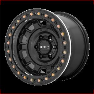 17x9  KMC Wheels KM236 Tank Beadlock Satin Black -15  offset  108  hub