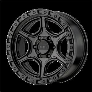 17x8.5  KMC Wheels KM539 Portal Satin Black 18  offset  71.5  hub
