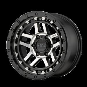 17x8.5  KMC Wheels KM540 Recon Satin Black Machined 18  offset  106.25  hub