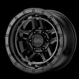 17x8.5  KMC Wheels KM540 Recon Satin Black 18  offset  106.25  hub