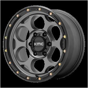 17x8.5  KMC Wheels KM541 Dirty Harry Satin Gray With Black Lip 0  offset  106.25  hub